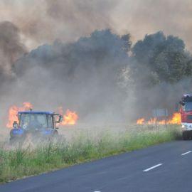 Bezpieczeństwo pożarowe podczas prac żniwnych