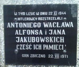 Mogiła zbiorowa rodziny Jakubowskich