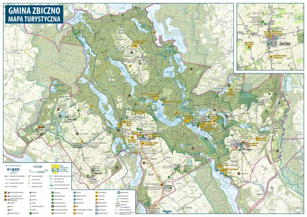 Mapa turystyczna Gminy Zbiczno