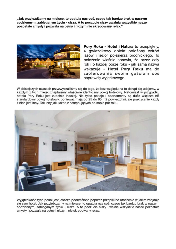 Pory Roku - Hotel iNatura